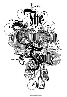 The chosen few lettering design ideas for typography lovers Chicano Lettering, Tattoo Lettering Fonts, Types Of Lettering, Graffiti Lettering, Lettering Styles, Typography Poster, Graphic Design Typography, Typography Images, Font Design