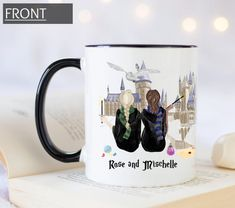 Custom HP castle mug, best friend wizard mug, pick your house mug, espresso patronum mug, always mug Best Friend Mug, Friend Mugs, Best Friend Gifts, Best Friends, Grandma Mug, New Grandma, Grandmother Gifts, Book Lovers Gifts, Gifts In A Mug