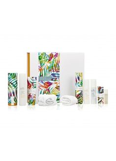 SUPER DELUXE COLLECTION - £128 -Treat yourself to our most luxurious collection of freshly handmade skincare. With everything you need to cleanse, tone, exfoliate and truly indulge, this collection is the answer to your skincare dreams. SAVE £43 This collection contains: • smoothing cleanser (120ml) • bamboo face cloth • vitamin toner (120ml) • skin revive (50ml) • eye refresh (10ml) • organic elixir (50ml) • face smooth (100ml) • tropic headband • night repair (50ml) • eye revive (15ml)