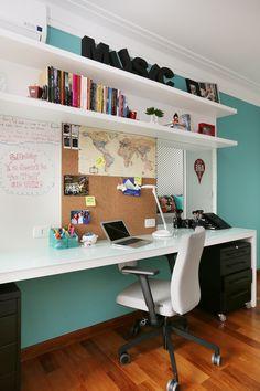 Painel Para Quarto: 60 Ideias e Projetos Criativos Com Fotos Bed Design, Design Case, House Design, Design Shop, Design Bedroom, Home Office Design, Home Office Decor, Office Desk, Office Lounge