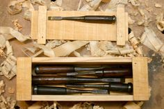 Japanese tools #3: Eight old Japanese chisels NOMI get back to life. - by mafe @ LumberJocks.com ~ woodworking community