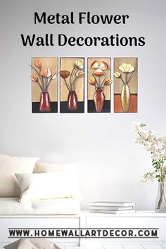 Flower Wall Decor Sets Love this pretty metallic flower wall decor set. Great for a living room, bedroom or office Love this pretty metallic flower wall decor set. Great for a living room, bedroom or office Name Wall Decor, Wall Decor Set, Flower Wall Decor, Wall Decorations, Garden Wall Art, Home Wall Art, Wall Decor Pictures, Floral Wall Art, Metallic