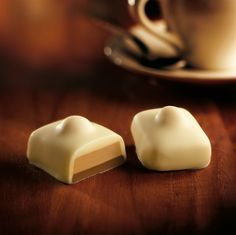 Belgian praline from Leonidas label called Manon (one of the most famous and beloved). Pralines are a Belgian invention