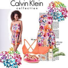 Zestaw z 21 lipiec, składający się m.in. z Sukienka Mosquito, Okulary damskie Calvin Klein, Strój kąpielowy Seafolly.