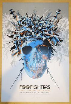 2015 Foo Fighters - Perth Silkscreen Concert Poster by Ken Taylor