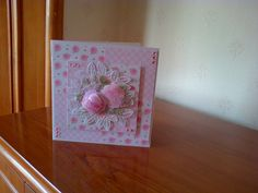 Card made with the new Charisma decoupage dies from Tattered Lace