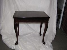 $150 Bombay Company Mahogany Accent Tables; Set Of 4
