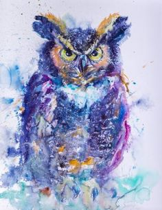 Great horned owl Giclée 1/5 limited editional print