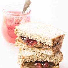 Rhubarb Vanilla Bean Jelly ~ this rhubarb jelly flecked with vanilla bean turns morning toast or a peanut butter and jelly sandwich into a gourmet treat. Cookies And Cream, Mint Cookies, Best Almond Butter, Greek Lemon Potatoes, Lemon Layer Cakes, Shortbread Bars, Rhubarb Desserts, Strawberry Desserts, Jelly Recipes