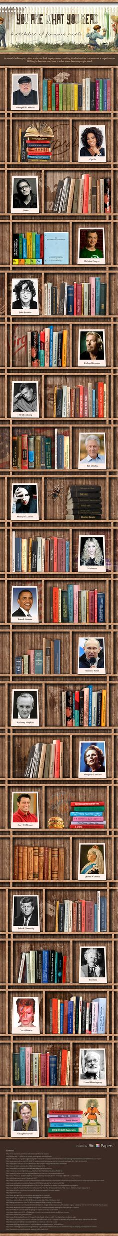 Reading lists of famous people - infographic Reading Habits, Reading Lists, Book Lists, Reading Books, I Love Books, Good Books, Books To Read, People Infographic, List Of Famous People