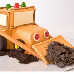 Bulldozer Birthday Cake Design