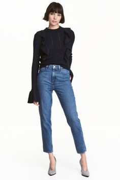 Straight High Jeans - Niebieski denim - ONA | H&M PL 1