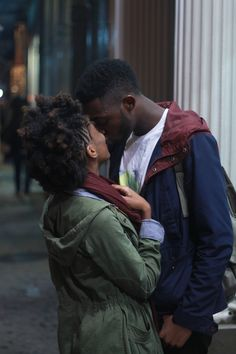 Tumblr, thanks for the great expression of men who love #naturalhair.  Love her frohawk/afro puff.  Love his tenderness.