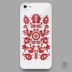 smartphone cover - design inspired by folk embroidery pattern from Jablonica, Slovakia