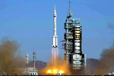 China's first manned mission to space blasts off in 2003.