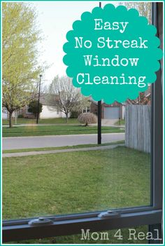 Easy No Streak Window Cleaning - Get your windows to stay clean and streak free with no chemicals!