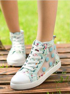 Floral and fun shoes Womens Fashion Sneakers, Fashion Boots, Teen Fashion, Sock Shoes, Shoe Boots, Shoes Heels, Converse Shoes, Baskets, Kawaii Shoes