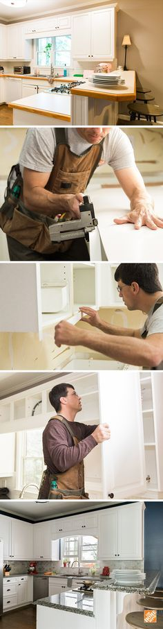 You don't need a total kitchen makeover to make a big impact. A convenient cabinet reface with The Home Depot can give your space a whole new look. Pick your new hardware, cabinet doors and finishes, and then leave the installation to us. Click through to learn more about this alternative to a complete kitchen remodel.