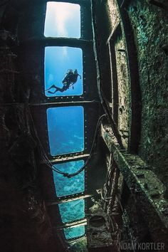 Salem Express wreck and diver in Red Sea, Egypt