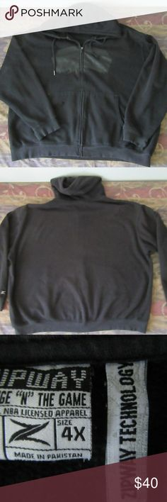 rare san antonio spurs zipway hoodie sz 4XL good shape: has flaws seen in pics- cuffs are torn and 1 small hole by pocket  rare san antonio spurs zipway hoodie sz 4XL  pit to pit 33  top to bottom 29  shoulder to shoulder 28.5  shoulder to cuff 25 zipway Jackets & Coats
