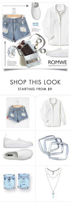 """""""Рваные Рулонные Подол Джинсовые Шорты!"""" by miss-image ❤ liked on Polyvore featuring Lacoste, GUESS by Marciano, Kevin Jewelers and Hot Topic"""