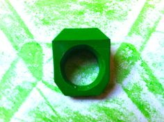 Green Crayon Ring Size 5, 6, 7, or 8 - PreMade SALE