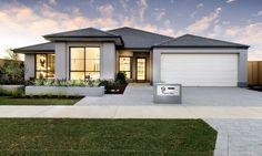 Choose your dream home design now with Dale Alcock. Bungalow House Design, House Front Design, Modern House Design, Contemporary House Plans, Modern House Plans, House Roof, Facade House, Dream House Plans, House Floor Plans
