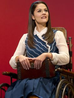 Emily Behny as Nessarose in Wicked!