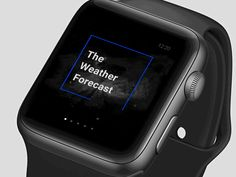 """via Muzli design inspiration. """"UI Interactions of the week is published by Muzli in Muzli - Design Inspiration. Apple Watch, Thermal Imaging Camera, Web Design, Ui Animation, Ui Inspiration, Weather Forecast, User Experience, Interactive Design, User Interface"""