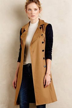 Colorblocked Trench Coat. All you need for Fall! #anthro #fallfashion #colorblock