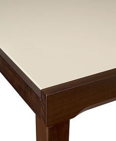 café latte glass top expandable dining table at macy s 600 starts