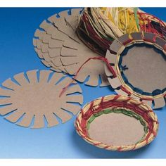 Raffia Basket Group Pack, Makes 24 - Weaving ideas Vbs Crafts, Bible Crafts, Camping Crafts, Arts And Crafts, Paper Crafts, Campfire Crafts For Kids, Fall Crafts, Weaving For Kids, Basket Crafts