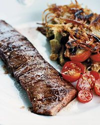 Grilled Skirt Steak with Rosti Potatoes  (Rosti Potatoes can be found under Veggies)