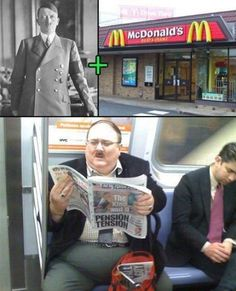 Hitler and McDonalds - Rude but Funny Funny Shit, The Funny, Funny Jokes, Funny Stuff, Funny Things, Mcdonalds, Funny Images, Funny Photos, Hilarious Pictures