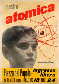 BOUCHER Pierre Mostra atomica (Рекламный плакат выставки, посвящённой атому), 1954
