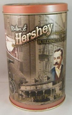 1996 Hershey Foods Candy Building a Legacy Canister Series #1 Tin Box Container