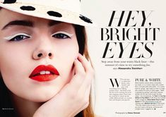 LE FASHION BLOG BEAUTY EDITORIAL GLAMOUR UK BRIGHT EYES BLUE CAT EYE WING EYE LINER 2 N Photo:  This Photo was uploaded by lefashion. Find other LE FASHI...