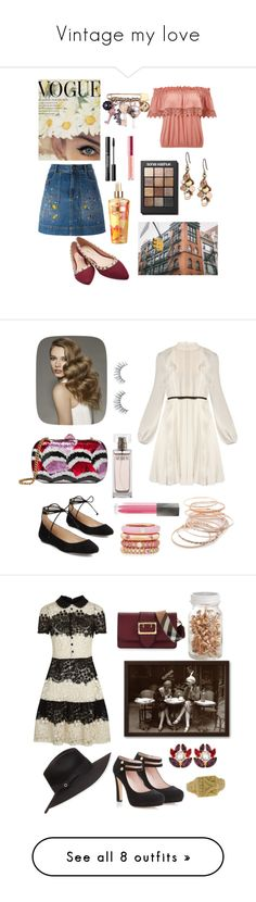 """""""Vintage my love"""" by miruna-catea ❤ liked on Polyvore featuring Miss Selfridge, Alice + Olivia, Wet Seal, Dolce&Gabbana, Lucky Brand, Victoria's Secret, Sonia Kashuk, Gucci, Giambattista Valli and Karl Lagerfeld"""