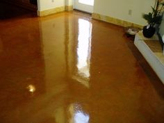 DIY Acid Stain concrete floors. The most comprehensive DIY about acid stained concerete.