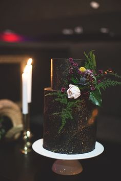 If you like things a bit more dark 'n moody than the usual bridal fare, then you're going to love this wedding shoot!Put together by Him and Her Events from Queensland, it features a black wedding cake, a deer skull above the ceremony arch and the coolest models ever! This is definitely not one for traditional brides.