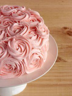 Rose Birthday Cake / Pastel de rosas