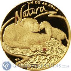1998 South African Leopard 4 Coin Proof Gold Natura Set http://www.gainesvillecoins.com/
