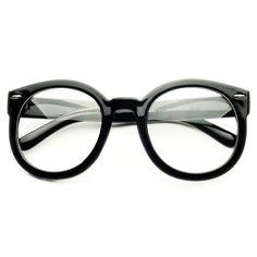 1e23f396b05 Vintage Retro Style Clear Lens Oversized Round Glasses Frames R21
