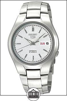 Seiko SNK601K - Reloj analógico automático para hombre con correa de acero inoxidable, color plateado de  ✿ Relojes para hombre - (Gama media/alta) ✿