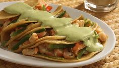 Mmmmm.... Shrimp Tacos from #Mexico, made with Olive Oils from Spain!!