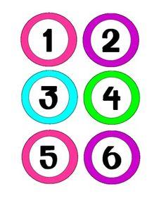 1-30 number labels (Bright Colors) | Classroom | Pinterest ...
