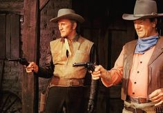 The war wagon (1967). Kirk Douglas & John Wayne.