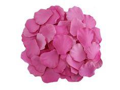 Dark Pink Silk Rose Petals (500)
