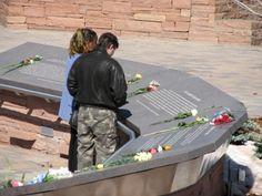The Columbine Memorial in Littleton, Colorado, to honor and remember the victims of the April 20, 1999 shooting.
