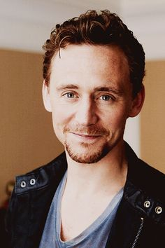 Tom Hiddleston <3  Seriously, someone go buy him clothes.  He only owns, like, four shirts, two pairs of pants, and a leather jacket.